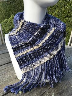 Fringed scarf woven by Margaret Seddon from Perran Yarns Aran Merino Fleck yarn handdyed in shade Galaxy Food Dye, Fringe Scarf, Saturated Color, Color Blending, Yarns, Fashion Photo, Knit Crochet, Knitting Patterns, Projects