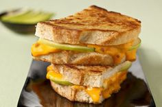 Give your grilled cheese sandwich a bistro-style upgrade with sourdough bread, bacon bits and apple slices.