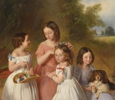 ⍕ Paintings of People & Pets ⍕  Johann Friedrich Dietler | Sisters, 1846