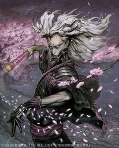 Samurai Art, Samurai Warrior, Fantasy Character Design, Character Art, Hobgoblin, Demon Hunter, Korean Art, Traditional Paintings, Fantasy Characters