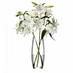 Vase für lange Blumen, klar