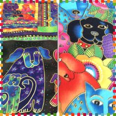 New Laurel Burch- dogs & doggies