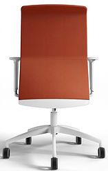 Chaise de bureau ergonomique orange