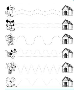 dog trace worksheet  |   Crafts and Worksheets for Preschool,Toddler and Kindergarten