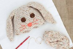 54f01fe09defb This free crochet bunny hat pattern makes a darling DIY Easter gift for  your favorite baby