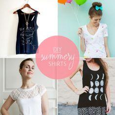 10 Summery Cool DIY Shirts