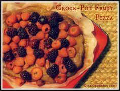 Crock-Pot Fruit Pizza via the Crock-Pot Ladies #Dessert #Recipe #Crockpot #Slowcooker