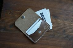 The Horween Snap Wallet by FOXTROTSUPPLYCO on Etsy