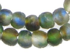 50 Recycled Glass Beads - Earth African Beads - 14mm Round Beads - Fair Trade Necklace - Wholesale - Made in Africa (RCY-RND-MIX-541)