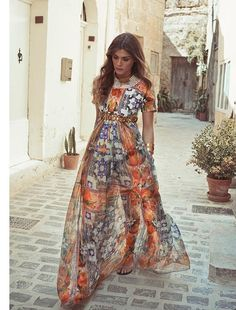 Elisa Sednaoui looks stunning for Net-A-Porter's The Edit.  Photography: Koray Birand  Styling: Tracy Taylor