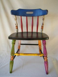 Cottage Chic Hand Painted Chair