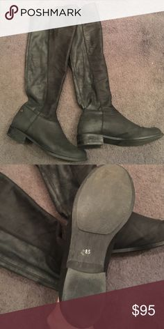 Steve Madden Over the Knee Boots Black distressed over the Knee. Worn less than 10 times. Great condition. Little to no signs of wear. Great casual boot! Shoes Over the Knee Boots