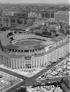 """the setting of some of the most historic moments in the game: """"the house that ruth built""""; old yankee stadium"""