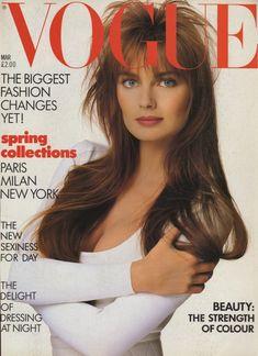 Paulina Porizkova by Patrick Demarchelier Vogue UK March 1987