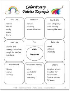 Color Poetry activity - Simple steps for teaching your students to write color poems Included in the April Activities Mini Pack from Laura Candler $