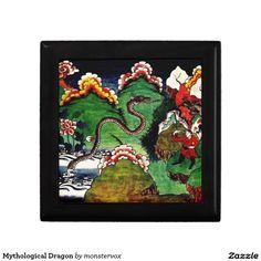Mythological Dragon Keepsake Box #Mythological #Mythology #Dragon #Creature #Art #Jewelry #Keepsake #Trinket #Gift #Box