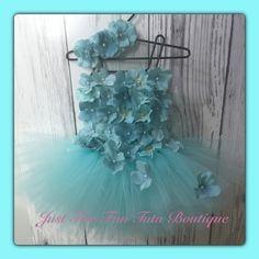 Aqua/mint baby girl tutu dress along with a by Justforfuntutu