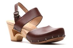Dansko Thea closed to sandals in brandy
