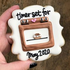 Wildflour cookie co on how cute is this cookie i made for a customers baby announcement ! sugarcookies decoratedcookies cookiedecorator best ideas baby announcement with sibling second child baby Baby Cookies, Baby Shower Cookies, Royal Icing Cookies, Sugar Cookies, Heart Cookies, Valentine Cookies, Easter Cookies, Birthday Cookies, Christmas Cookies