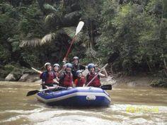 White River Rafting at Kampar River, Gopeng Malaysia.