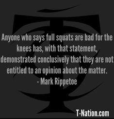 More from Mark Rippetoe here: http://www.t-nation.com/ALSAuthor.do?p=Mark+Rippetoe #startingstrength $markrippetoe
