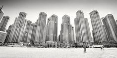 Dubai uae skyline.