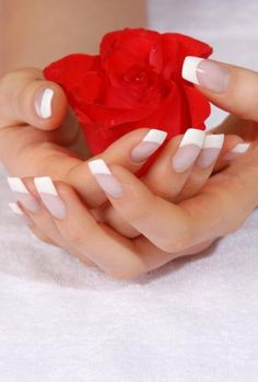 Beautifully Sculpted Acrylic Nails. Or opt for a Natural Manicure finished with Body Silk Serum.
