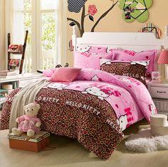 Cute, Cozy Korean Style Bedding Set - hello kitty