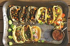 Taco spread photo by Alex Farnum, Tacolicious. Reprinted with permission from Tacolicious, by Sara Deseran and Joe Hargrave, copyright © 2014, published by Ten Speed Press, an imprint of Random House LLC. Photographs copyright © 2014 by Alex Farnum.