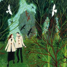 'Two Of A Kind' By Painter Dee Nickerson. Blank Art Cards By Green Pebble. www.greenpebble.co.uk