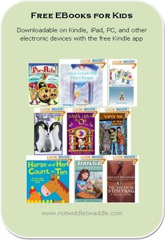 great list of free kids' ebooks to read this weekend!