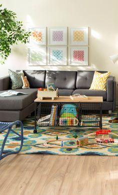 A coffee table with storage crates? Genius! | Furniture + Interior design