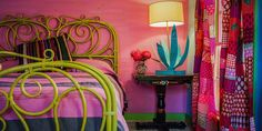 GypsyYaya- The Rancho Pillow Motel. The colors in this room!