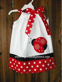 Red Ladybug Pillowcase dress.