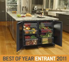 The perfect refrigerator for storing all of our produce!