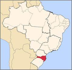 SANTA CATARINA - Capital Florianópolis, Southern Brasil.