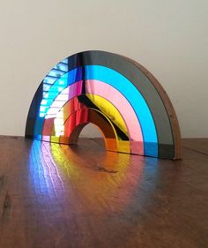 Chromatic Mirror Decor - Birde & Wolfe's Rainbow Mirrors Feature Panels in Varying Hues (GALLERY)