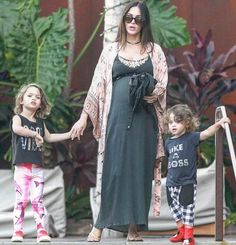 Megan Fox and Brian Austin Green son Bodhi in our Jagged Culture Like a Boss Tee and Checkered Baggies.  Go to www.kamarikids.com to shop!