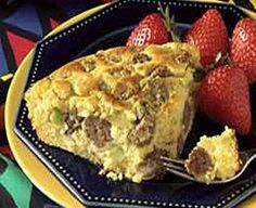WW Sausage-Cornbread Breakfast-This is a Weight Watchers 5 PointsPlus+ oven baked recipe.