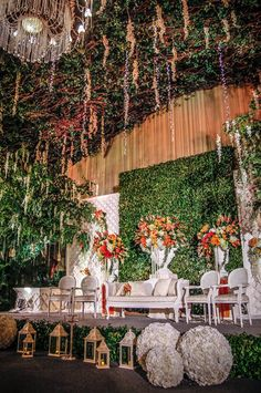 The garden theme for william and indah wedding stage at thamrin nine botanical glamour by mawarprada wedding decoration gardening orange by junglespirit Gallery