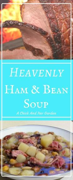 One of my favorite winter meals is soup with crusty bread!  This ham and bean soup is perfect for a cold night!