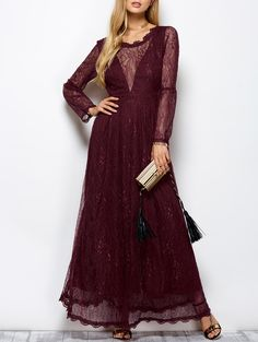 Vintage bohemian floral lace dress women sexy V Back retro robe feminino vestidos long sleeve elegant party dresses Elegant Party Dresses, Lace Evening Dresses, Casual Dresses, Maxi Dresses, Prom Dress, Gown Dress, Dress Shoes, Wine Dress, Floral Lace Dress