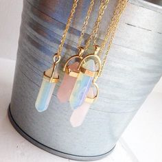 Necklace For Women Jewelry Hot sale Hexagonal Column Quartz Necklaces Pendants Fashion Natural Stone Bullet Pink Crystal Pendant Necklace For Women Jewelry Jewelry Fashion Necklace, Fashion Jewelry, Women Jewelry, Jewelry Accessories, Trendy Accessories, Jewelry Ideas, Fashion Accessories, Mode Blog, Stud Earrings