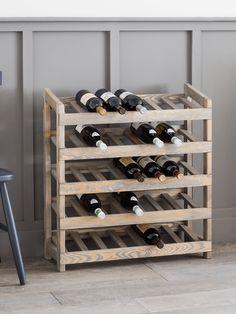 NEW Rustic Wooden Wine Rack