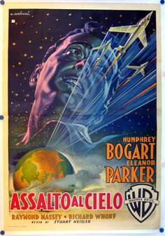 ASSALTO AL CIELO,(CHANE LIGHTNING),USA, 1950,DRAMMATICO, regia Stuart Heisler, prod. e distr. Warner, cast Humphrey Bogart, Eleanor Parker. Misure 100x140cm, 2F, autore #ALFREDOCAPITANI