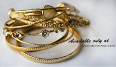 Bangle Bracelets in Gold $ 14.50 www.monmarie.com http://www.monmarie.com/collections/accessories/products/bangle-bracelets-in-gold