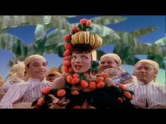 """▶ HARRY BELAFONTE & CARMEN MIRANDA - """"DAY-O, BANANA BOAT SONG"""" (YouTube)  *  One of the great Busby Berkeley numbers, Carmen Miranda in """"The Lady in the Tutti Frutti Hat"""" from """"The Gang's All Here"""" (1946).  LOVE THIS CLASSIC 'CHORUS GIRL' CHOREOGRAPHY!  <3"""