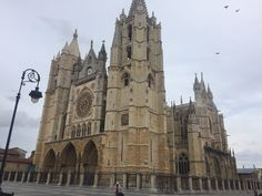 Catedral leon españa  Amazing Places, Barcelona Cathedral, Notre Dame, The Good Place, Building, Travel, Life, Viajes, Buildings