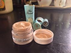 Cut open your makeup tubes and scoop them into a plastic pot to prevent waste of product