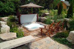 Modern-looking Jacuzzi JLX spa set in deck www.gordonandgrant.com ...